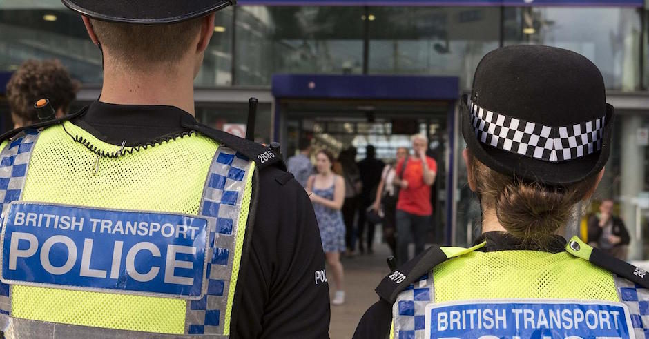 British Transport Police officers