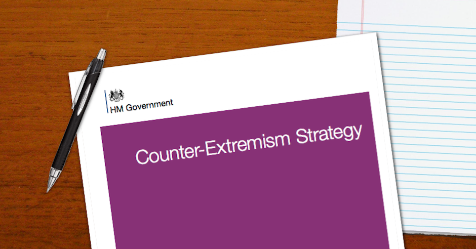 Our reaction to new government counter-extremism strategy