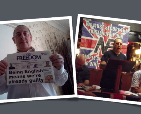 Darren Mark Lumb, who has pleaded guilty to directing antisemitic abuse at Jon Trickett MP. Image source: EDL News