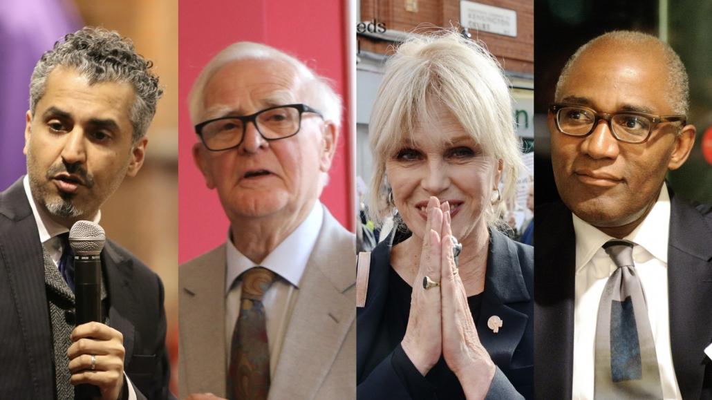 Top non-Jewish authors, actors, television and radio